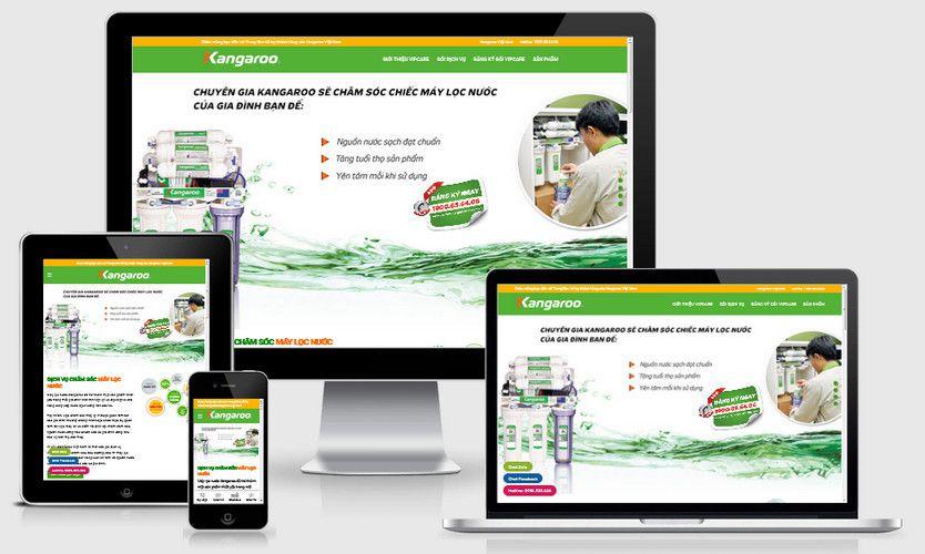 Mẫu website dịch vụ bảo dưỡng
