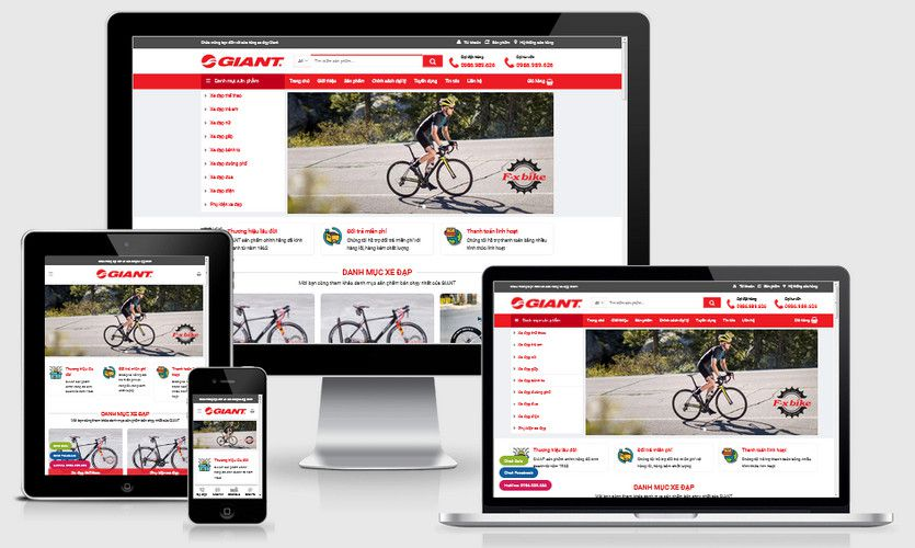 Mẫu website bán xe đạp Bicycle
