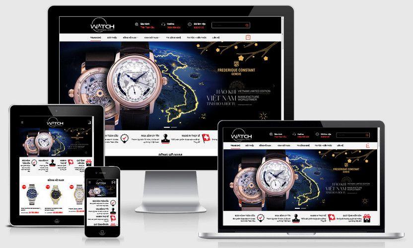 Mẫu website đồng hồ kính mắt Nam