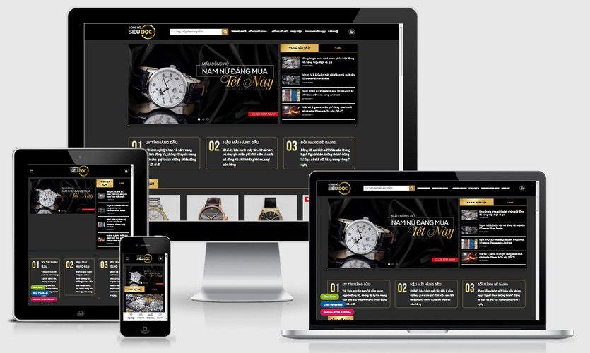 Mẫu website đồng hồ nam nữ cao cấp