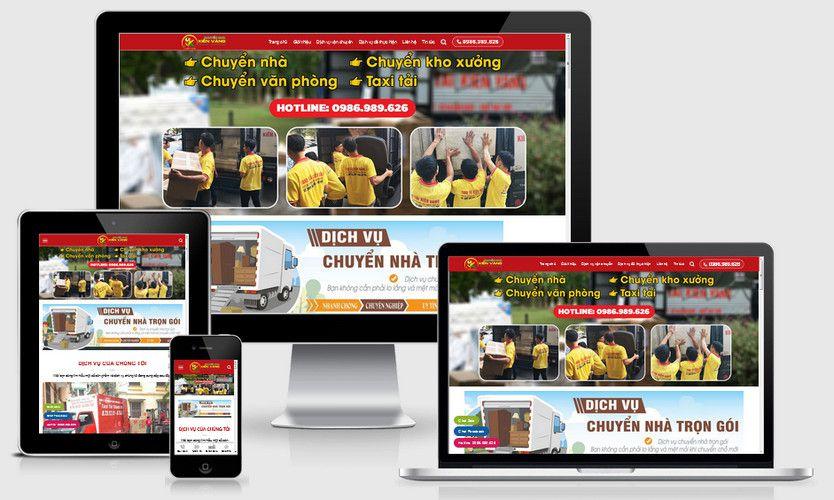 Mẫu website dịch vụ vận tải chở hàng
