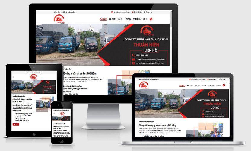 Mẫu website dịch vụ chuyển nhà Hà Nội