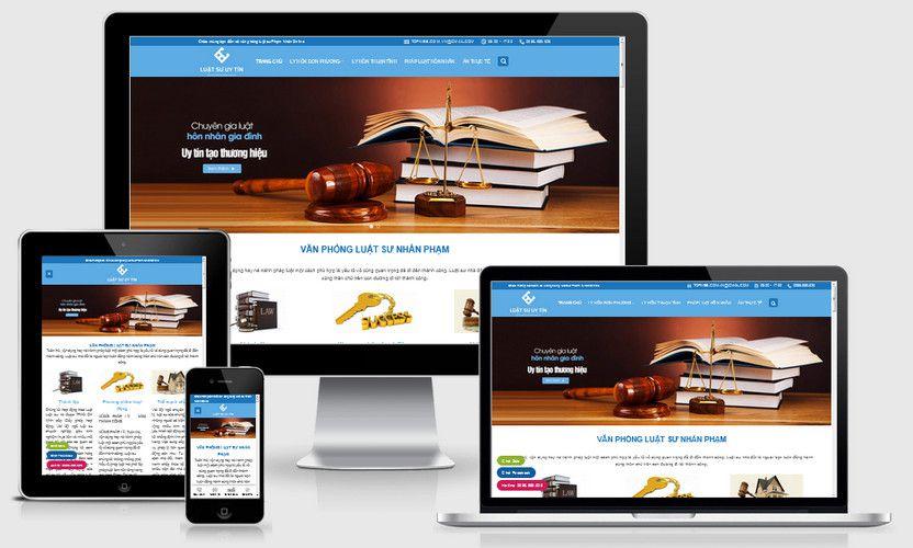 Mẫu website công ty luật đẹp