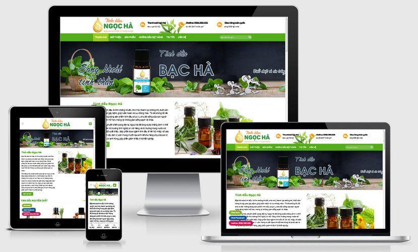 Mẫu website bán tinh dầu