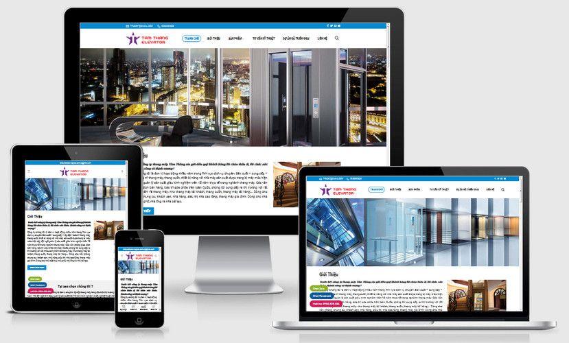 Mẫu website công ty thang máy
