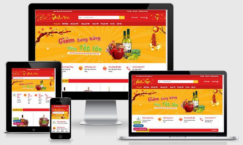 Mẫu website quà biếu Tết