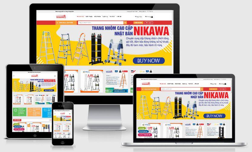 Mẫu website bán thang nhôm