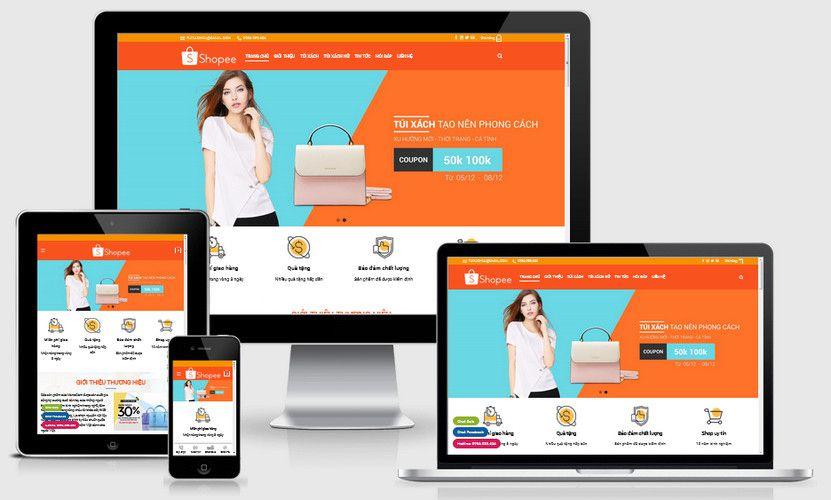 Mẫu website bán túi xách nữ cao cấp
