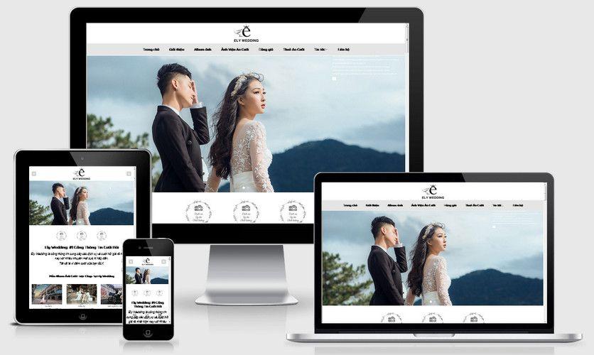 Mẫu website chụp ảnh cưới, áo cưới