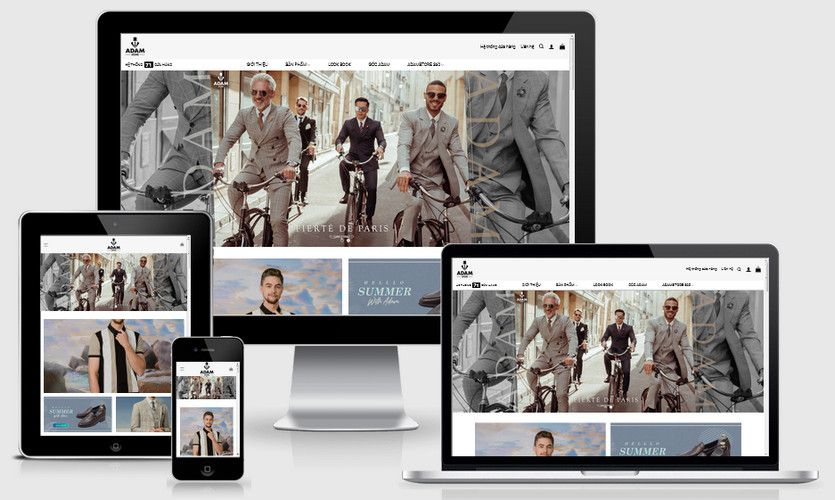 Mẫu website thời trang nam cao cấp