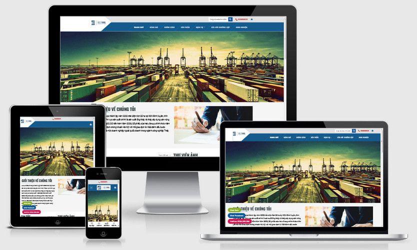 Mẫu website công ty xây dựng vận tải