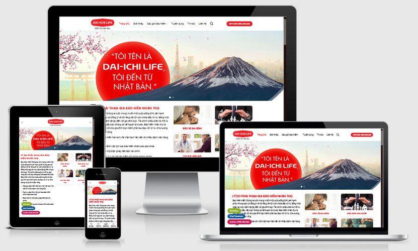 Mẫu website bảo hiểm nhân thọ Dai-ichi Life