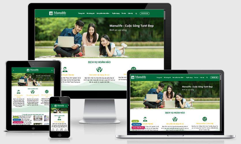 Mẫu website bảo hiểm nhân thọ ManuLife