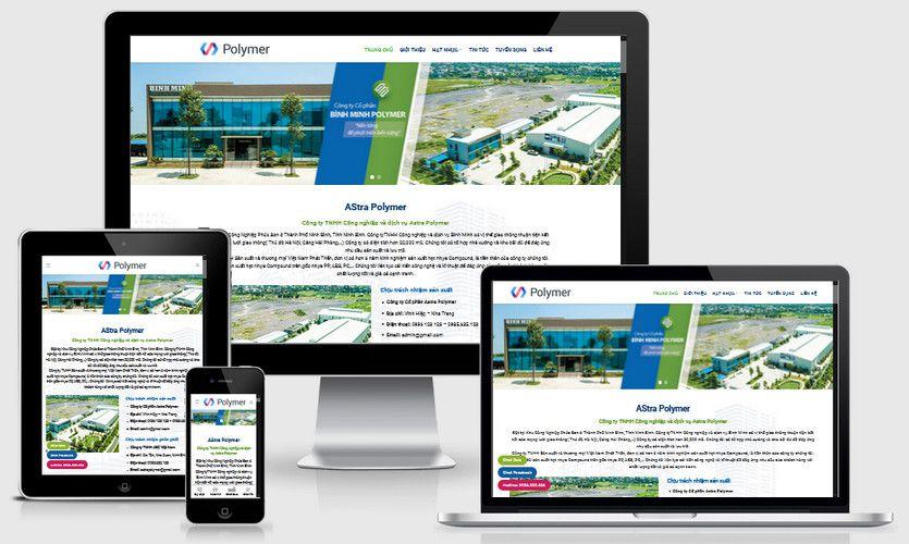Mẫu website công ty cổ phần đẹp