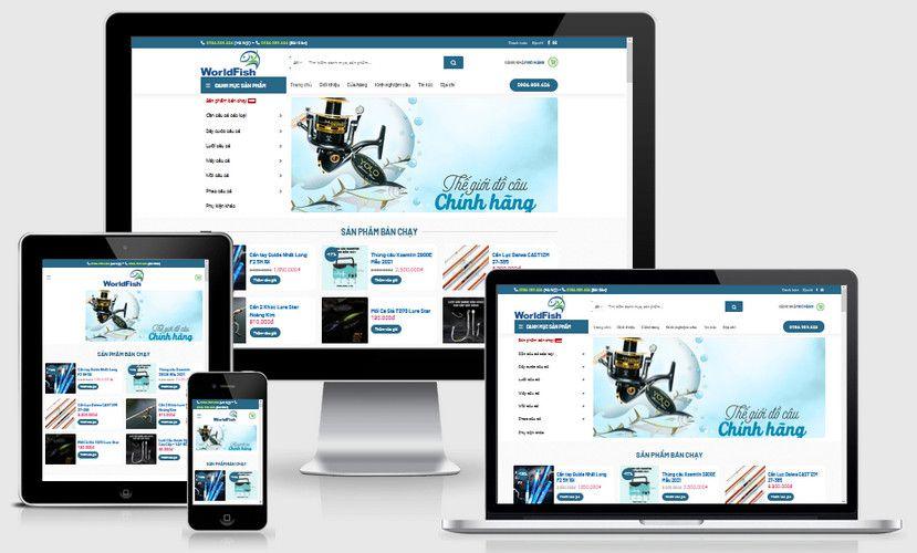 Mẫu website bán đồ câu cá đẹp